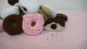 Daily Doughnut - Yarn, beads and fiberfill, 2008