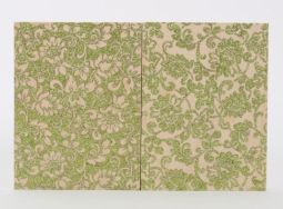 "Green Floral Study (diptych) - 8"" x 12"", glitter on wood panel, 2015"